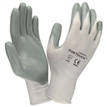 Cordova Gray Nylon Gloves, Gray Nitrile Palms, Cor-Touch, 6890