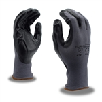 Cordova Gray Nylon Gloves, Black Nitrile Palms, Cor-Touch 6890G
