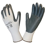 Cordova White Shell, Gray Nitrile Coated Gloves, Cor-Touch II, 6892