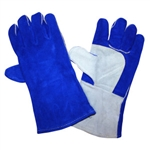 Cordova Blue & White Leather Welders Large Gloves 7615
