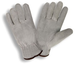 Cordova Economy Grey Split Leather Driver's Gloves