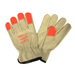 Cordova Driver Glove with Orange Fingertips 8213WYH
