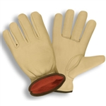 Cordova Red Fleece Lined Cowhide Driver's Gloves 8240
