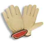 Cordova Red Fleece Lined Pigskin Driver's Gloves 8922