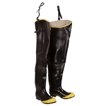 Cordova Black 32 Inch Rubber Steel-Toed Hip Boots