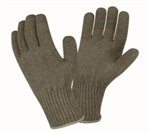 Cordova Green Ragg Wool Thermal Glove Liner