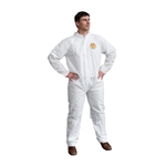 Cordova C-MAX White Disposable Coveralls, Open Wrists, Ankles SMS100