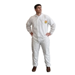 Cordova C-MAX White Disposable Coveralls with Elastic Wrists and Ankles SMS200