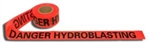 Cordova Hydroblasting Danger Barrier Tape