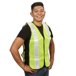 Cordova Mesh Safety Vest, 1 Inch Reflective Tape, Lime