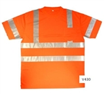 Cordova Class 3 Short Sleeve Mesh T-Shirt, Orange