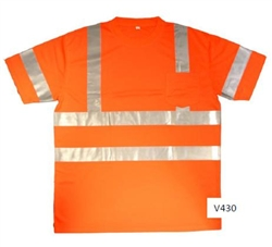 Cordova Class 3 Short Sleeve Mesh T-Shirt, Orange or Lime
