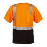 Cordova Class 2 Mesh T-Shirt with Black Bottom, Orange or Lime