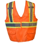 Cordova Class 2 Safety Vest, Pockets, Orange