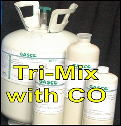 Gasco Calibration Gas, Tri-Mix 3 Gas Mixture (LEL/O2/CO)