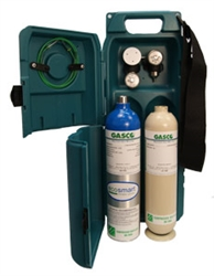 Gasco Two Cylinder Calibration Gas Carrying Case (58 & 103 L Cylinders)