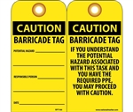 Caution Barricade Tags with Grommets
