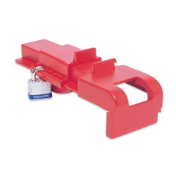North B Safe Butterfly Valve Lockout, Red