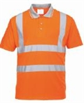 Portwest Type R Class 2 Short Sleeve Polo Shirt, Orange