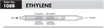 Sensidyne Ethylene Color Intensity Gas Detection Tubes, 0.1-100 ppm