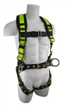 SafeWaze PRO Extreme No-Tangle Construction Harness, 3 D-Rings, Belted, FS160