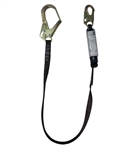 SafeWaze Pro Heavy Weight Shock Absorbing Lanyard with Rebar Hook, FS88665-HW