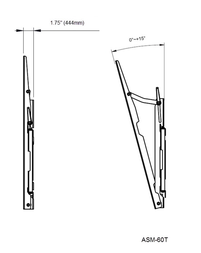 Vizio P552ui-B2 tilting TV wall mount