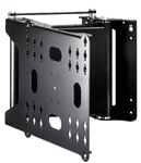 Motorized electric 90 deg swivel TV bracket for 32in to 65in Tvs smooth quiet mechanism with input preset positions