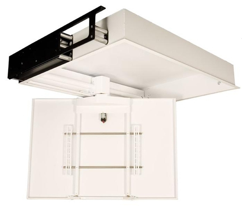 Future automation chs4 motorized hinged tv ceiling mounts for Motorized ceiling drop down tv mount