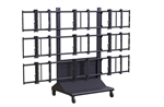 NEC E554 video wall cart - Premier MVWC-3X3 3x3