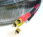 50FT Triple RCA Stereo Video Dubbing Composite Cable (3 x RG59U)