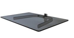 component shelf for tv ceiling mount pipes. Black Bedroom Furniture Sets. Home Design Ideas