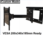 TV wall mount bracket with 33 inch extension - LG 55EG9100  All Star Mounts ASM-504M Custom