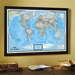 National Geographic Classic World Map - Framed & Personalized