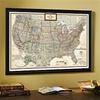 National Geographic USA Political Map, Earth-toned - Framed & Personalized