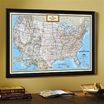 National Geographic USA Political Map, Classic - Framed & Personalized