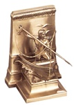 New Bedford Whaler Bookends finished in Antique Silver or Brass