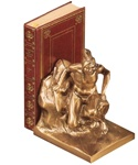 Indian Scout Bookends finished in Antique Silver & Brass