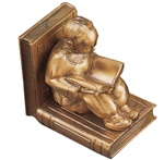 Reading Chinese Boy Sitting  Bookends