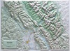 Raised Relief Map of Glacier National Park