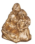 Mother and Child Reading Bookends