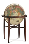 Antique Ocean Finley Globe by Replogle
