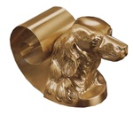 Setter Head Scroll Bookends