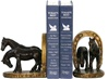 Pair of Horses and Horseshoe Bookends