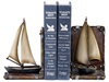 Sailboat with Two Sails Bookends