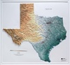 Raised Relief Map of Texas