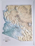 Raised Relief Map of Arizona