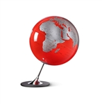 Anglo Red Desk Globe by Atmosphere