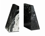 Black Marble Zebra Taper Bookends