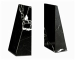 Marble Black Zebra Professional Bookends